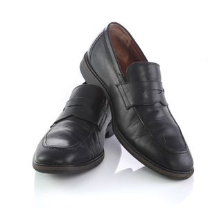 Johnston Murphy Black Sheepskin Loafers Shoes